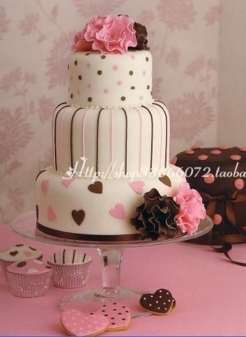 典雅公主风 三层婚礼蛋糕 聚会蛋糕 庆典蛋糕生日蛋糕奶油蛋糕图片