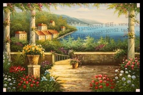 【图】网友推荐单品:地中海风景油画纯手绘油画欧式