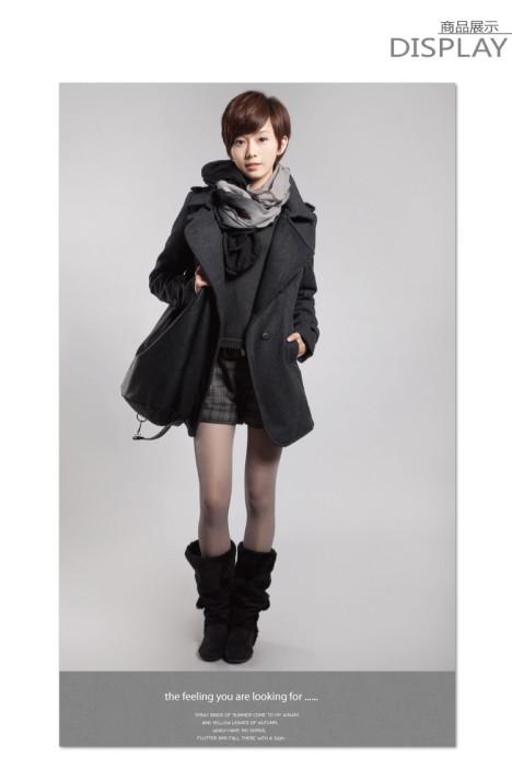 灰色女大衣搭配图片_灰色女大衣如何搭配