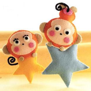 【图】网友推荐单品:diy星星猴子玩偶 不织布diy星星