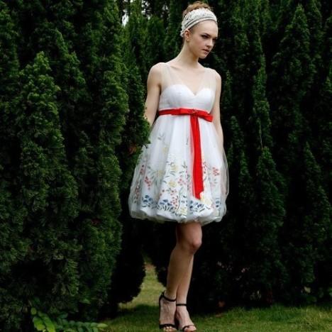 欧式小礼服如何搭配模特图