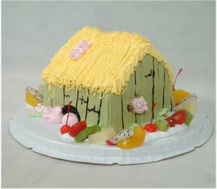 林间小屋房子上海生日蛋糕儿童蛋糕卡通蛋糕