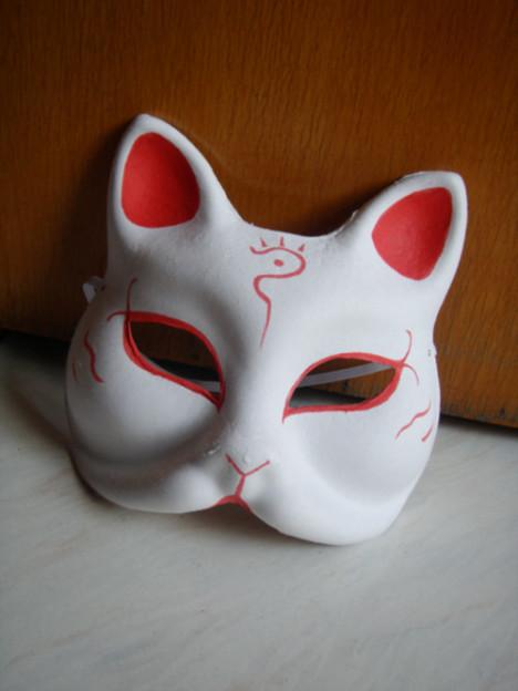日式和风面具/手绘/狐狸/猫脸面具/猫老师/全新/cosplay