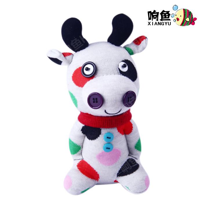 diy袜子娃娃牛搭配