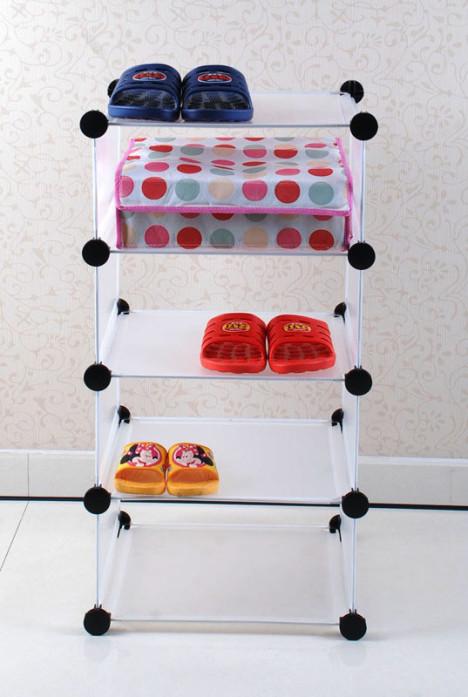 diy鞋架鞋柜 鞋盒简易鞋柜 塑料鞋架 儿童鞋.