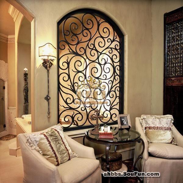 欧式时尚铁艺隔断墙餐厅客厅隔断镂空铁艺壁饰壁挂墙壁装饰背景墙
