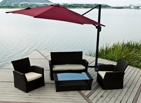 户外桌椅组合家具搭配