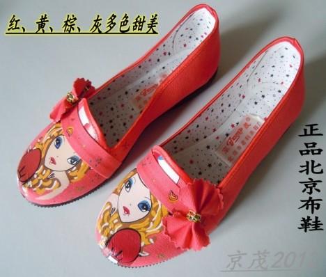 老北京手绘布鞋搭配图片