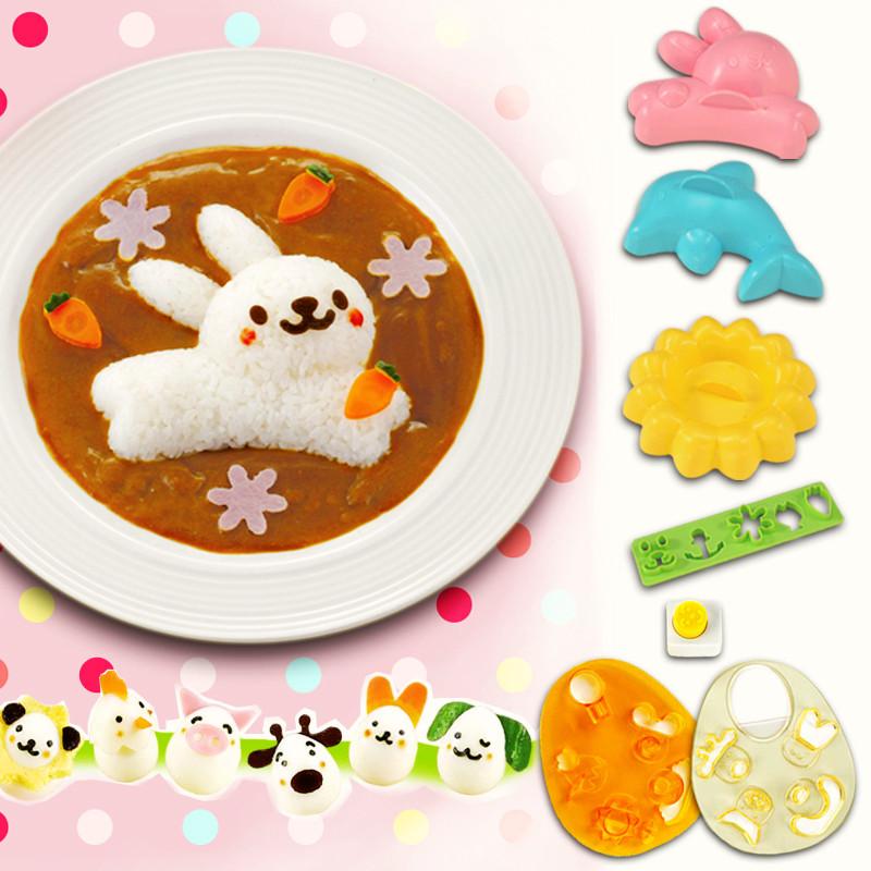 动物形状饭团图片