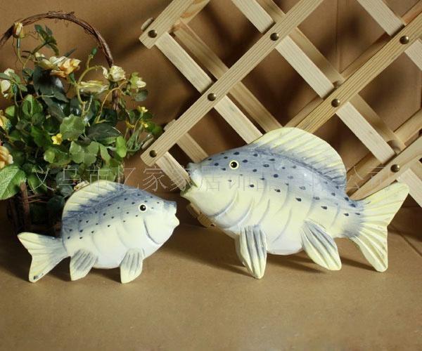 q 地中海装饰品热带鱼 欧式家居客厅摆件电视柜装饰品