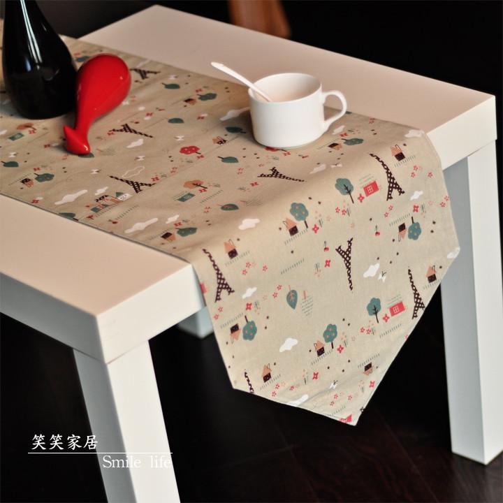 美式乡村! 亚麻布艺桌旗 餐桌布 防滑桌垫 隔热餐垫 可订做