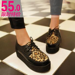 Fancystyle简单清纯的很哟 -潮鞋2012春新韩版性感女鞋子豹纹防水台