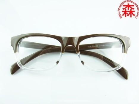复古文艺双色眼镜架 近视 眼镜框近视 女款 潮透明
