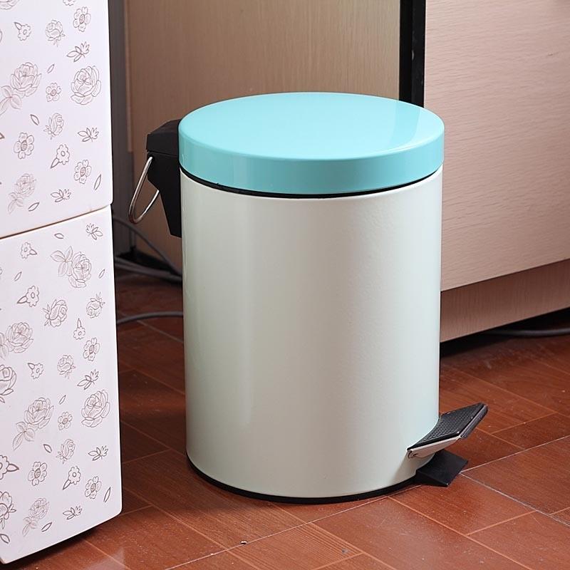 厨房垃圾桶日式脚踏 日本翻盖卫生间韩国时尚创意