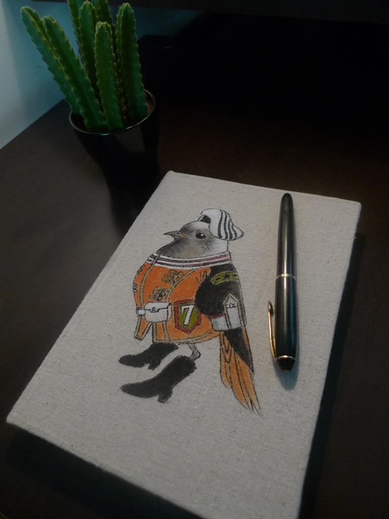手绘棉麻封面笔记本/记事本/速写本/日记本/ 手绘的独一无二的笔记本