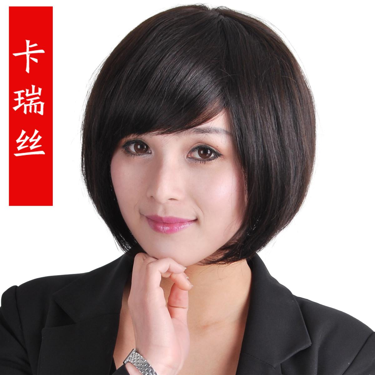 斜刘海短发梨花搭配
