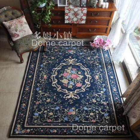【图】网友推荐单品:好洗省心 欧式地毯 客厅深蓝新好