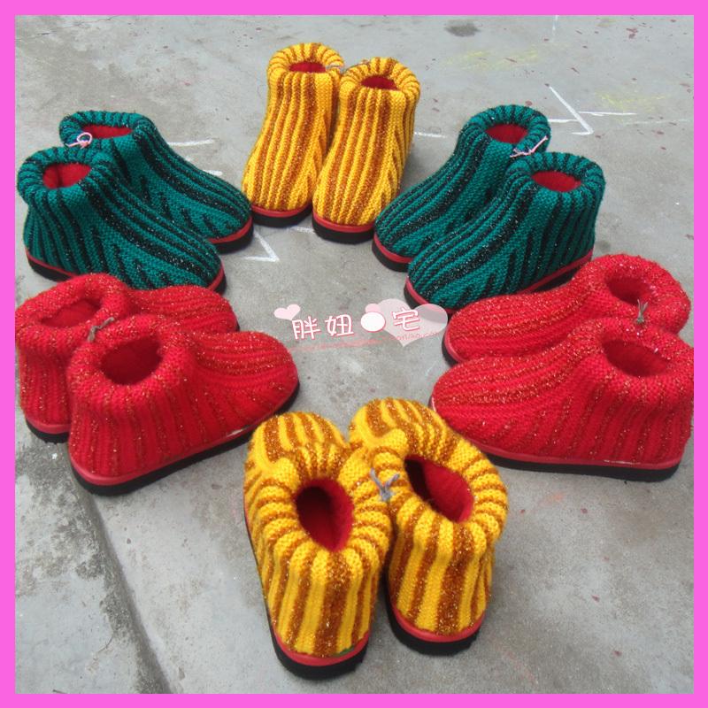 毛线棉鞋编织搭配