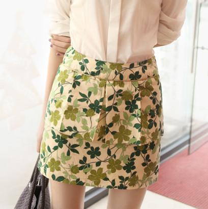 绿叶裙搭配图片_绿叶裙如何搭配