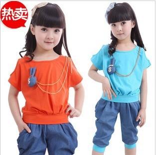 女童夏季运动服搭配