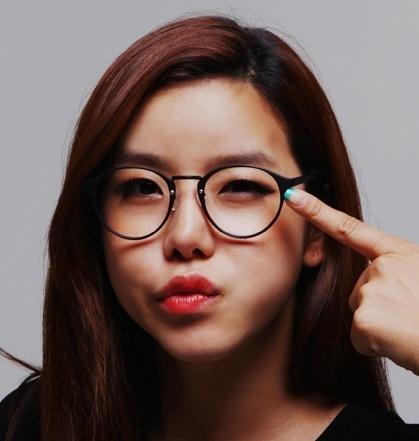 韩国进口代购眼镜框架 时尚俏皮可爱圆形眼镜框架圆形框架眼镜