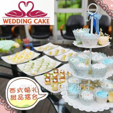 自助婚礼甜品台西点布置