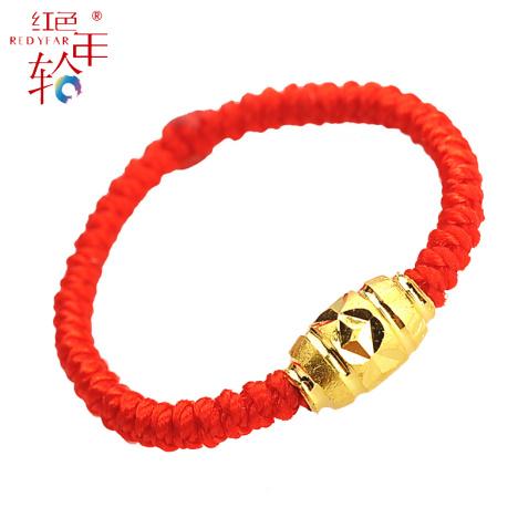 金戒指红绳搭配图片_金戒指红绳如何搭配