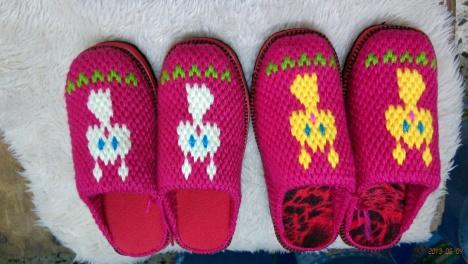 diy毛线拖鞋搭配图片