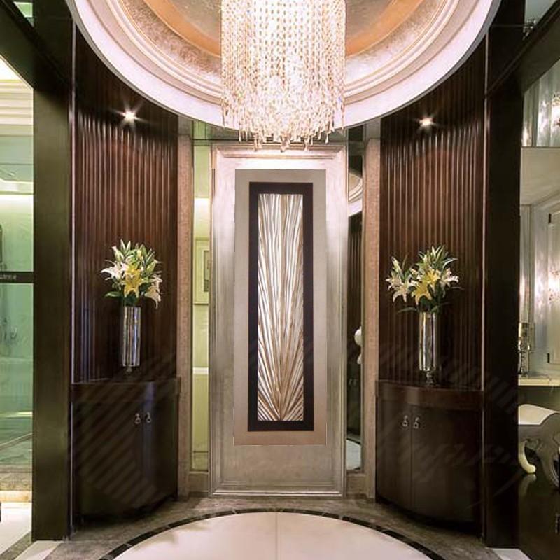 木雕竖款装饰画 酒店玄关走廊现代放射线条浮雕画