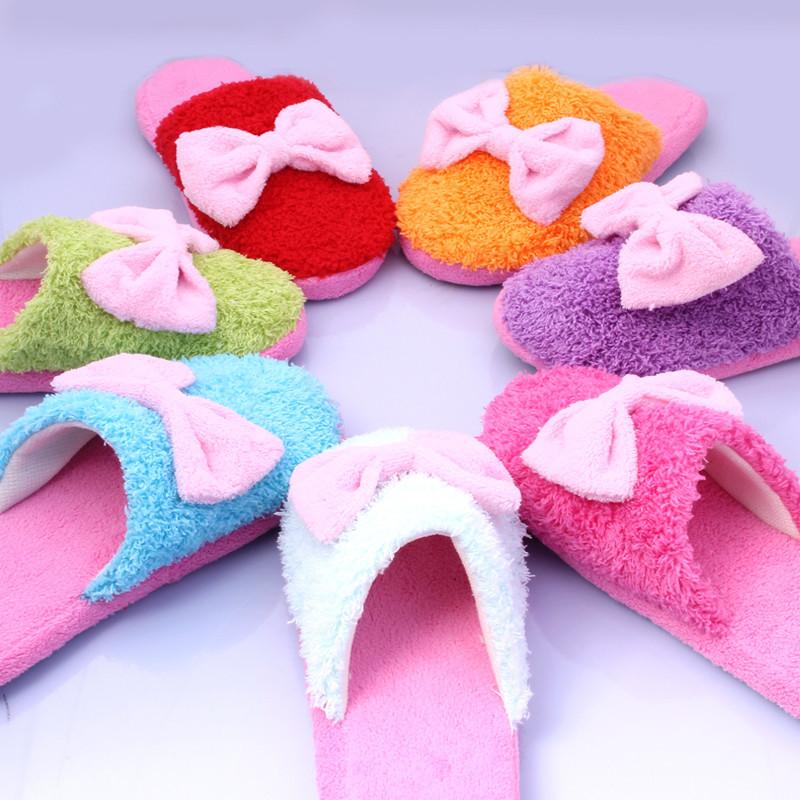 毛线拖鞋蝴蝶搭配