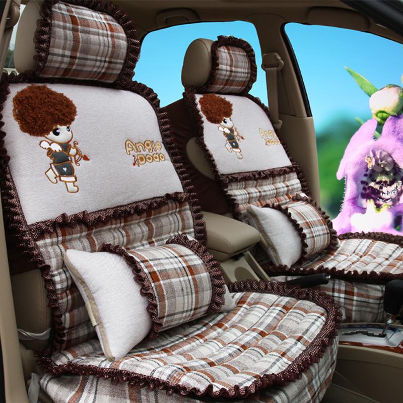 可爱卡通四季通用汽车坐垫