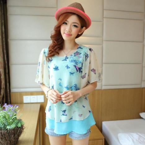 夏季短袖女短款韩版搭配图片