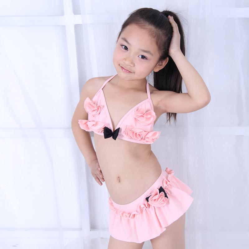 儿童分体裙式可爱泳衣 女童小公主比基尼游泳衣中大童泳装