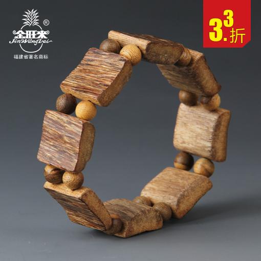天然越南沉香木手串 原木个性