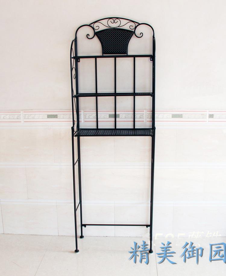 外贸欧式铁艺置物架马桶架 三层落地式置物架 卫生间储物架特价