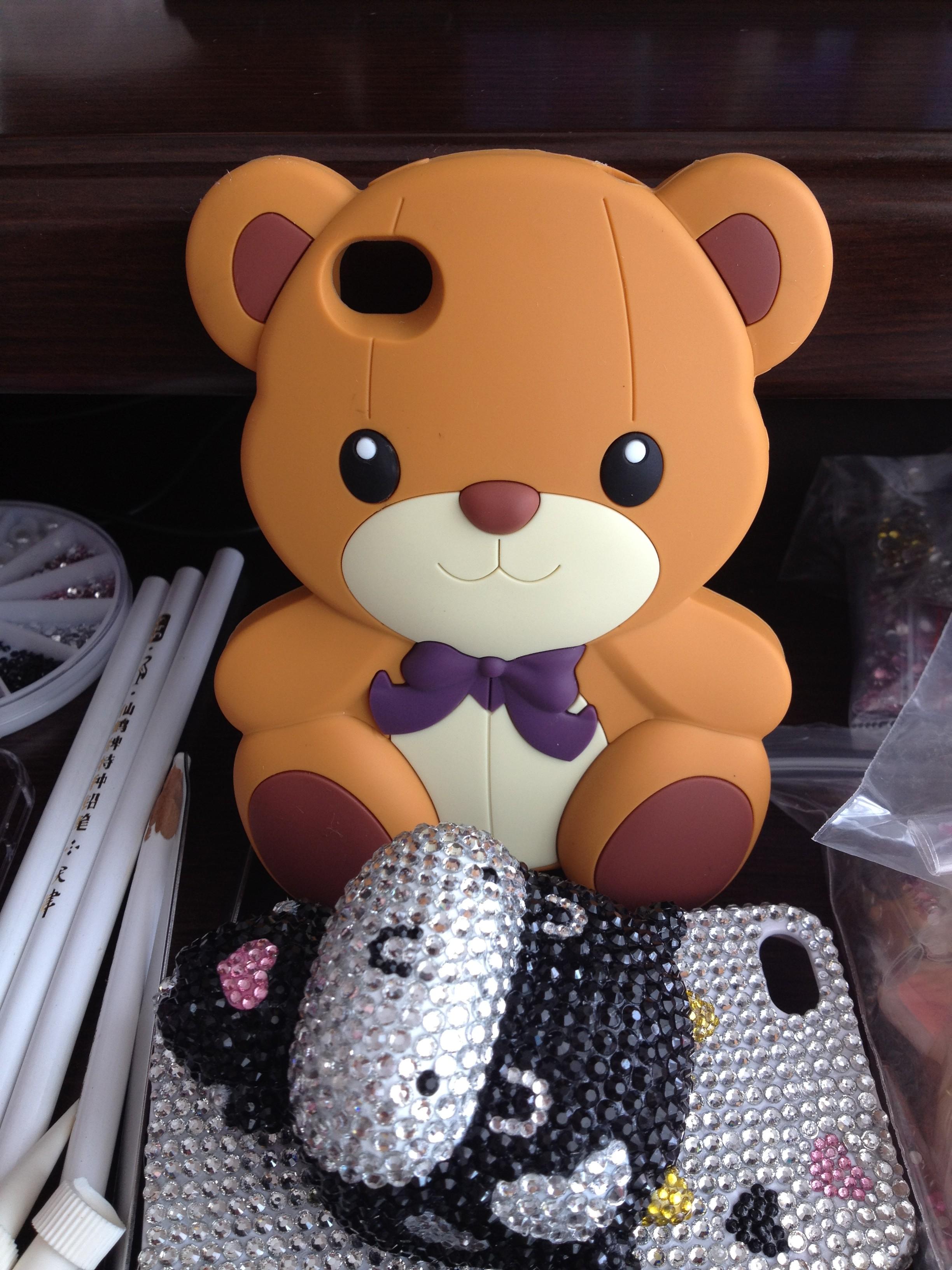 可爱的小熊手机壳 - 蘑菇街