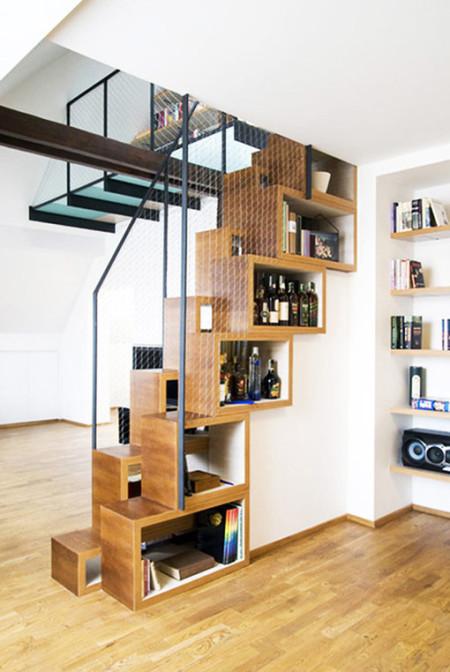 楼梯#这样设计应该很省空间吧 - 蘑菇街
