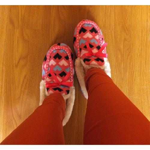 毛线棉鞋编织蝴蝶图纸