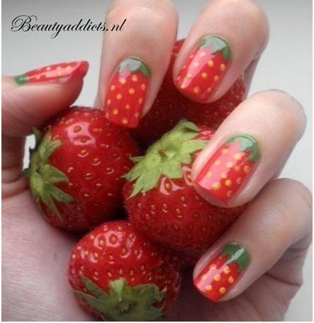 [3]草莓手绘草莓手绘美甲步骤