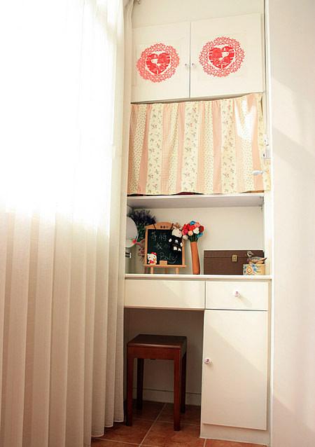 宜家装修效果图 窗帘巧隔断客厅和卧室 21平宜家超级迷你居