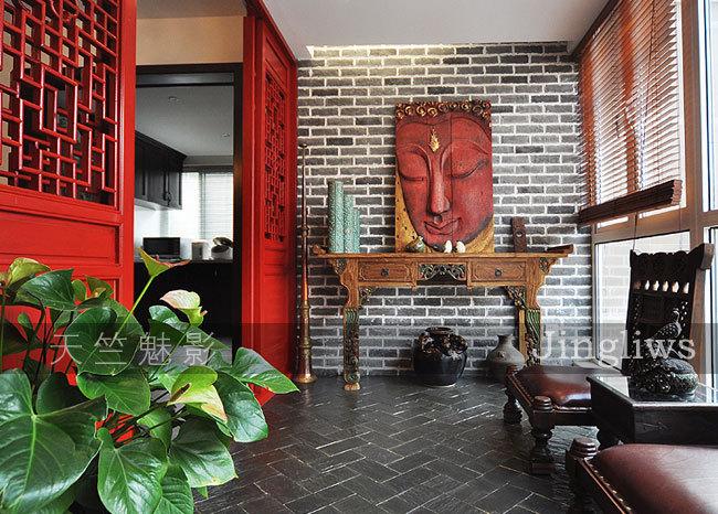 280平异域风情别墅 新中式东南亚艳丽混搭 装修效果图高清图片