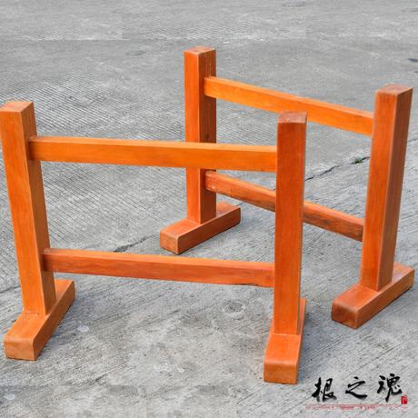 大板支架 实木原木红木画案办公桌大班台桌脚简约