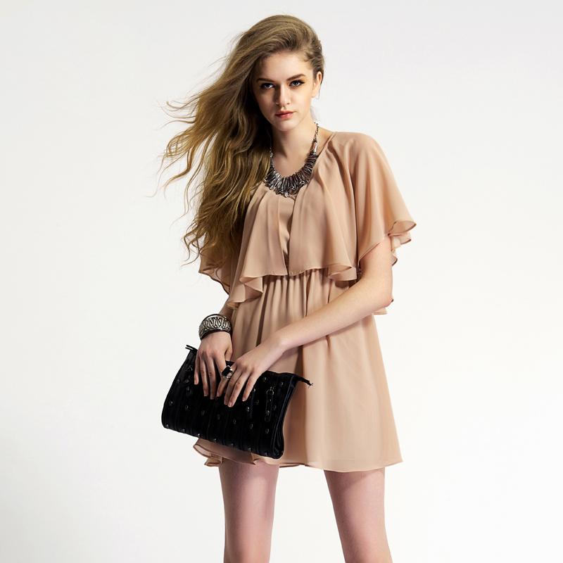 高腰连衣裙夏短款搭配图片