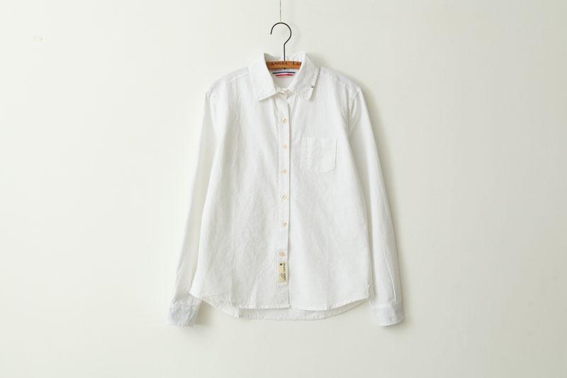 清爽 刺绣白衬衫