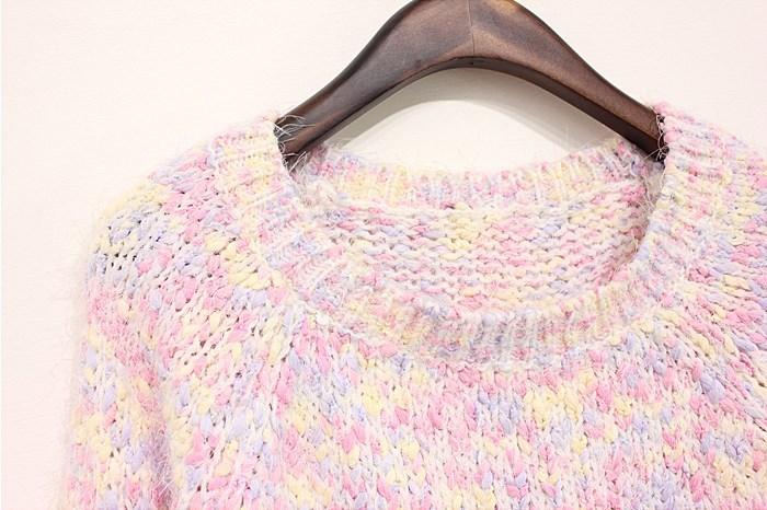 【彩虹色毛衣】-衣服-服饰鞋包