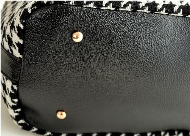 【韩版流苏串珠水桶包时尚链条包】-包包-女包