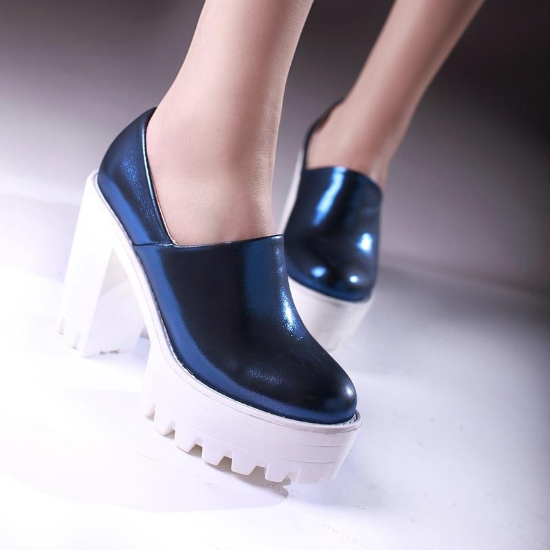 欧美水晶纹高跟鞋