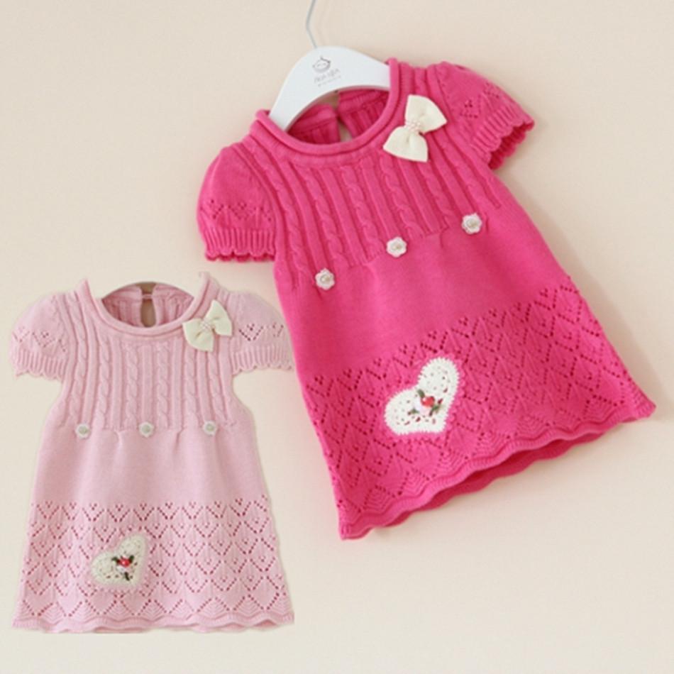 韩版女宝宝婴儿马甲背心裙针织连衣裙子0-1-2岁女童公主裙春秋款非常