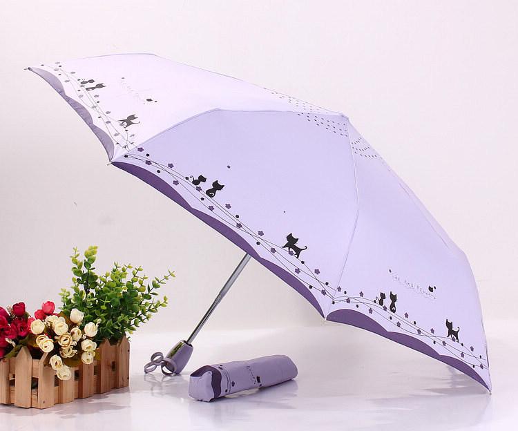 可爱小猫自动晴雨伞