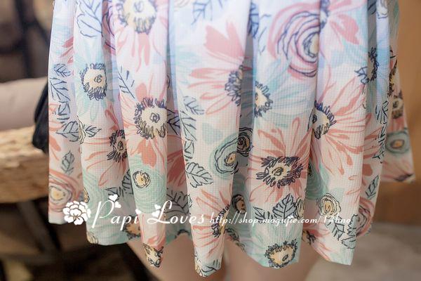 【夏日小清新夏日花朵无袖连衣裙】-衣服-连衣裙